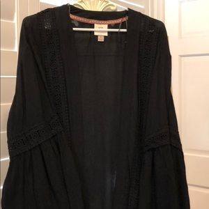 Jackets & Blazers - Black Kimono Layering Piece
